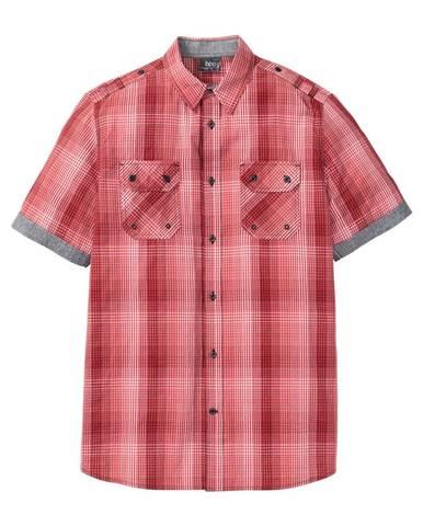 fb2161129817 Károvaná košeľa so špeciálnym strihom na bruchu