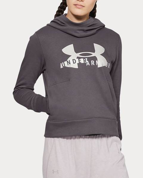Mikina Under Armour Cotton Fleece Sportstyle Logo Hoodie Šedá