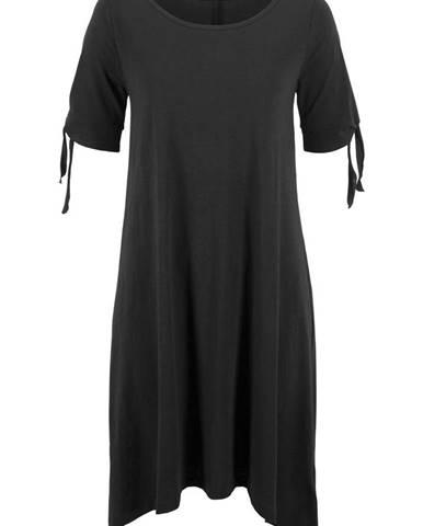 b8ba139e2225 Bavlnené šaty z jarabej priadze s prestrihom na pleciach