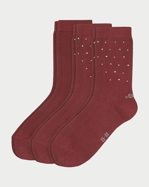 Ponožky s.Oliver S20548-3750 - 3 Pack Farebná