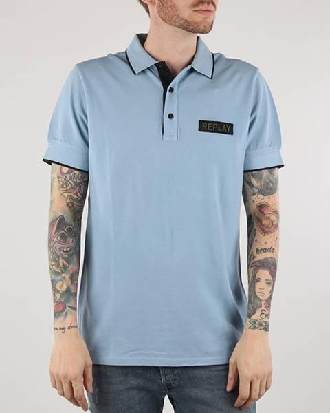 Tričko  M3575B Polo Modrá