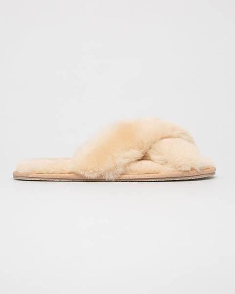 Béžové papuče SOXO