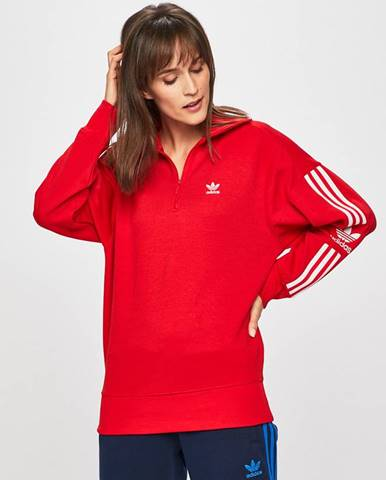 Červená mikina adidas Originals