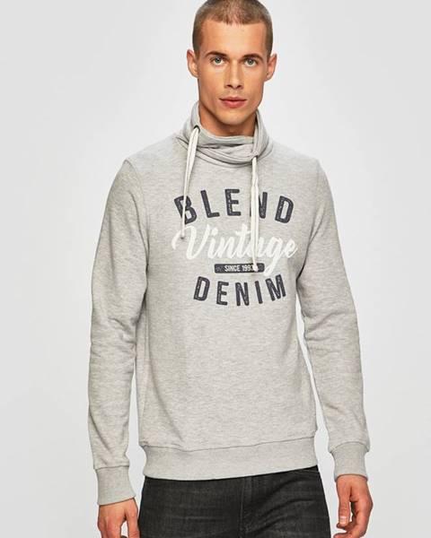 Sivá bunda s kapucňou Blend
