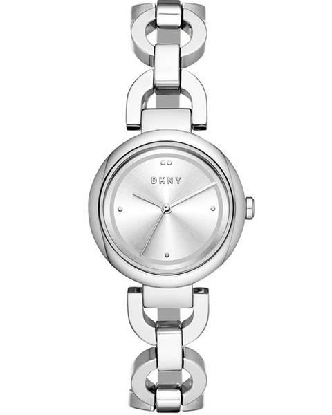 Strieborné hodinky DKNY