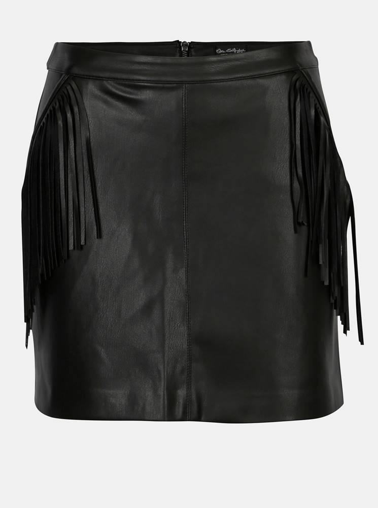 Čierna koženková mini sukňa...
