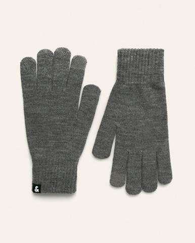 Sivé rukavice Jack & Jones