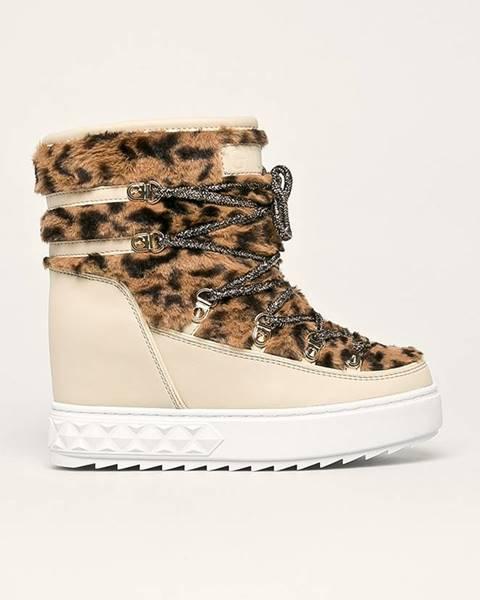Hnedé zimná obuv Guess Jeans