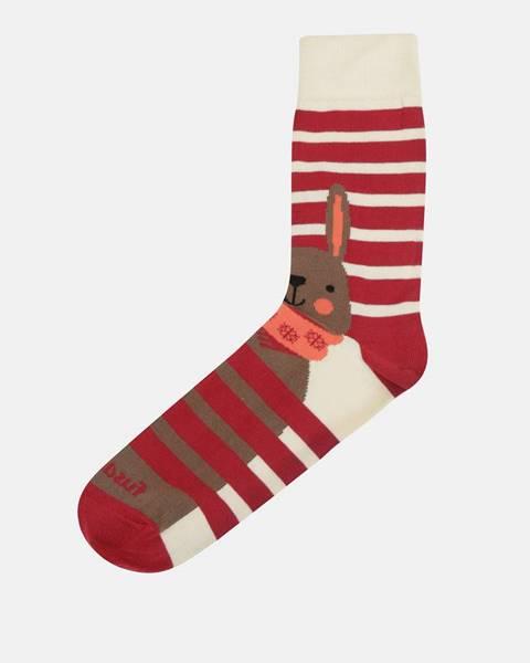 Červené ponožky Fusakle