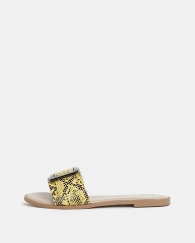 Žlté papuče Dorothy Perkins