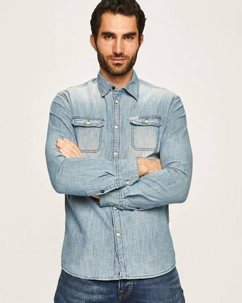 Modrá košeľa Guess Jeans