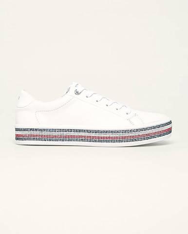 Biele topánky Tommy Hilfiger