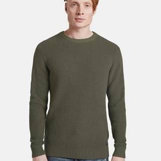 Kaki pánsky basic sveter Tom Tailor Denim