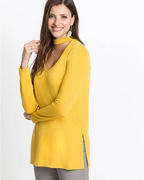 Žlté tričko bonprix