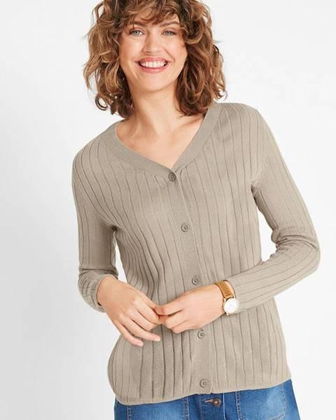 Béžový sveter bonprix