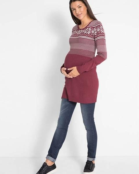 Červené tehotenské šaty bonprix