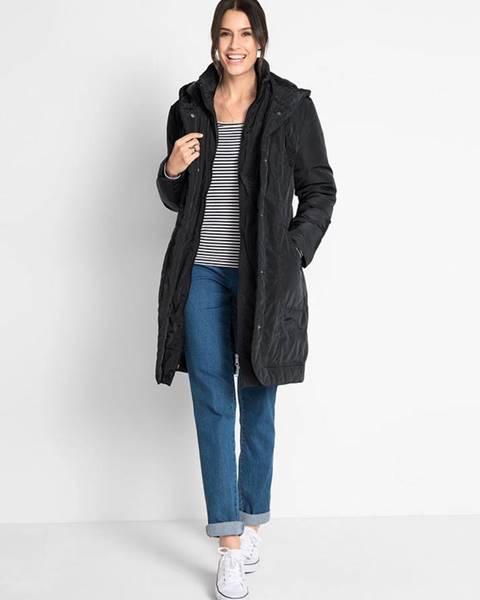 Čierny kabát bonprix
