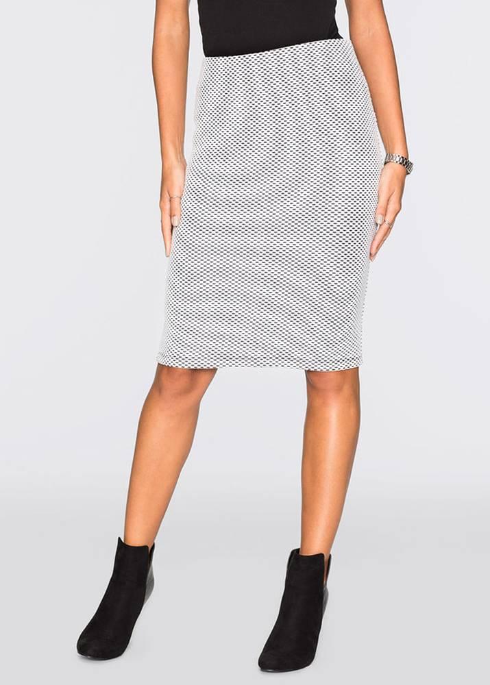 bonprix Elastická ceruzková sukňa so žakáru
