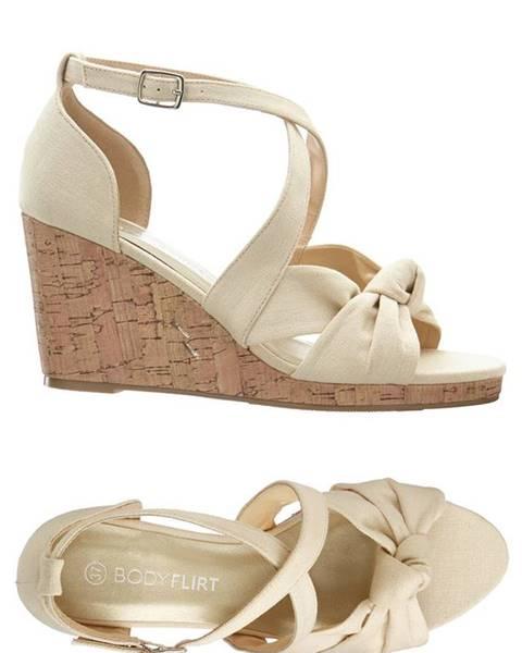Béžové sandále bonprix