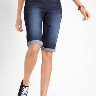 Strečové džínsové bermudy s komfortným pásom