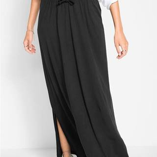Úpletová sukňa s bočným rozparkom