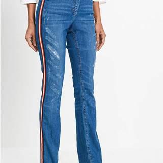Strečové džínsy s ozdobným pásom