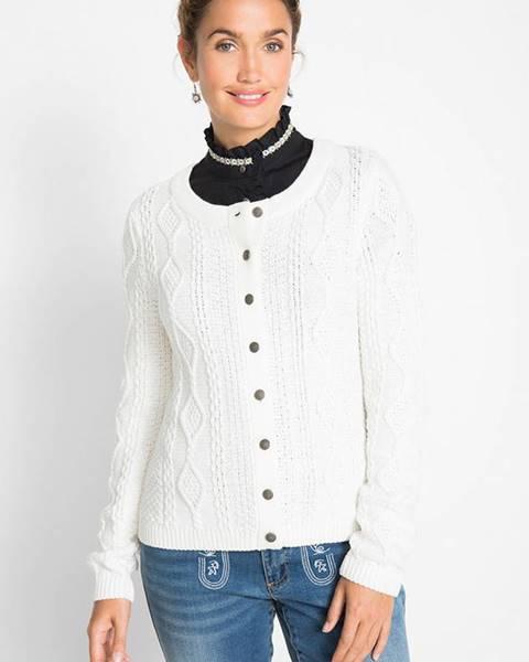 Biely sveter bonprix