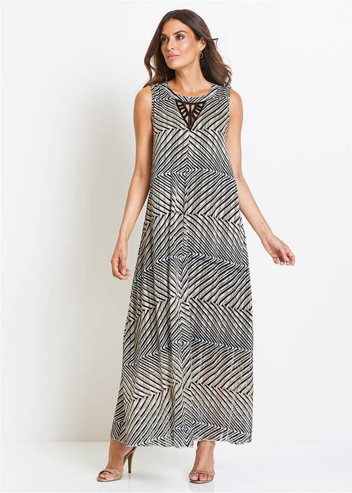 bonprix Večerné šaty s potlačou Premium