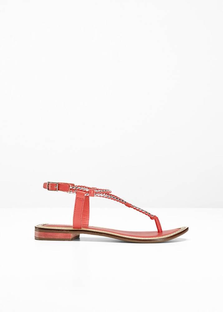 bonprix Kožené sandále medzi prsty
