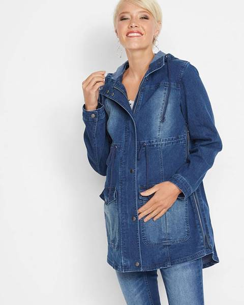 bonprix Materská bunda parka z džínsového materiálu