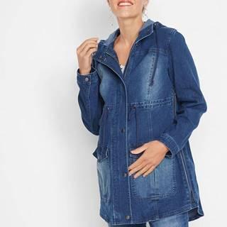 Materská bunda parka z džínsového materiálu