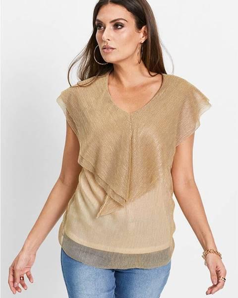 Zlaté tričko bonprix