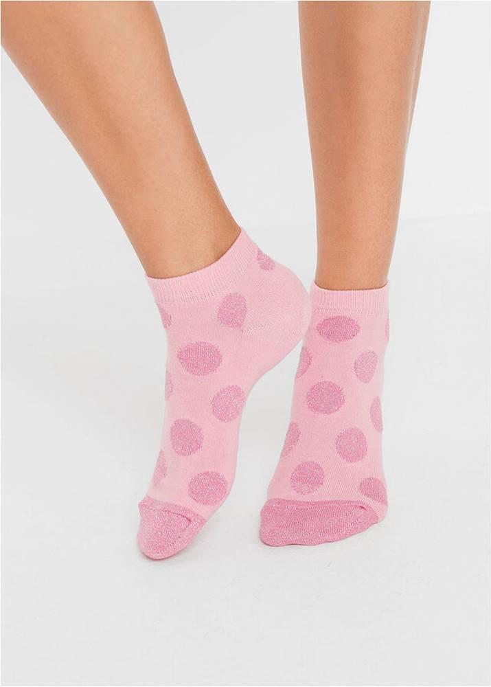 bonprix Krátke ponožky s trblietavými bodkami (5ks v balení)