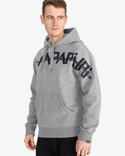 Sivá bunda s potlačou Napapijri