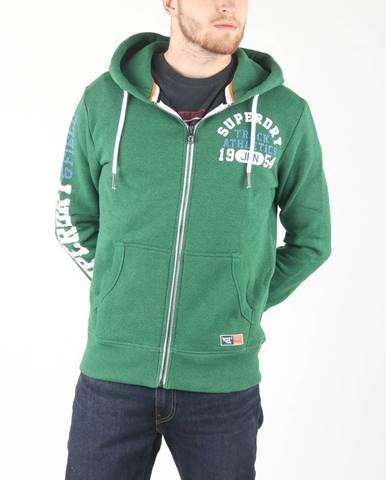 Zelená bunda s kapucňou Superdry