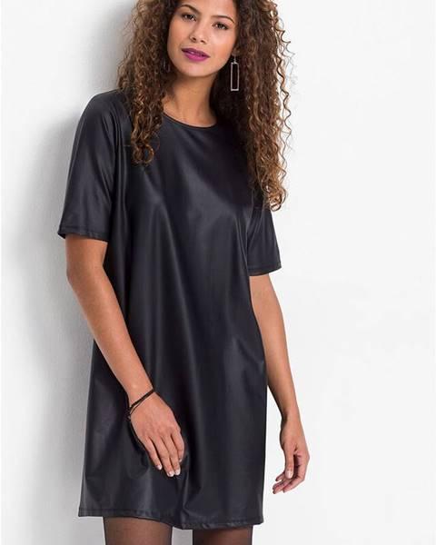 bonprix Šaty z koženky, A-línia