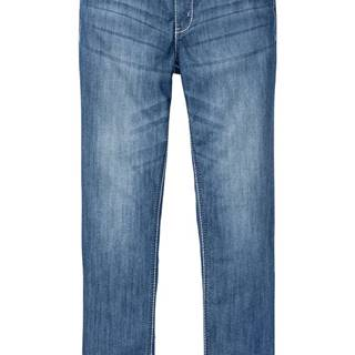 Džínsy s kontrastným prešívaním, Slim Fit Straight