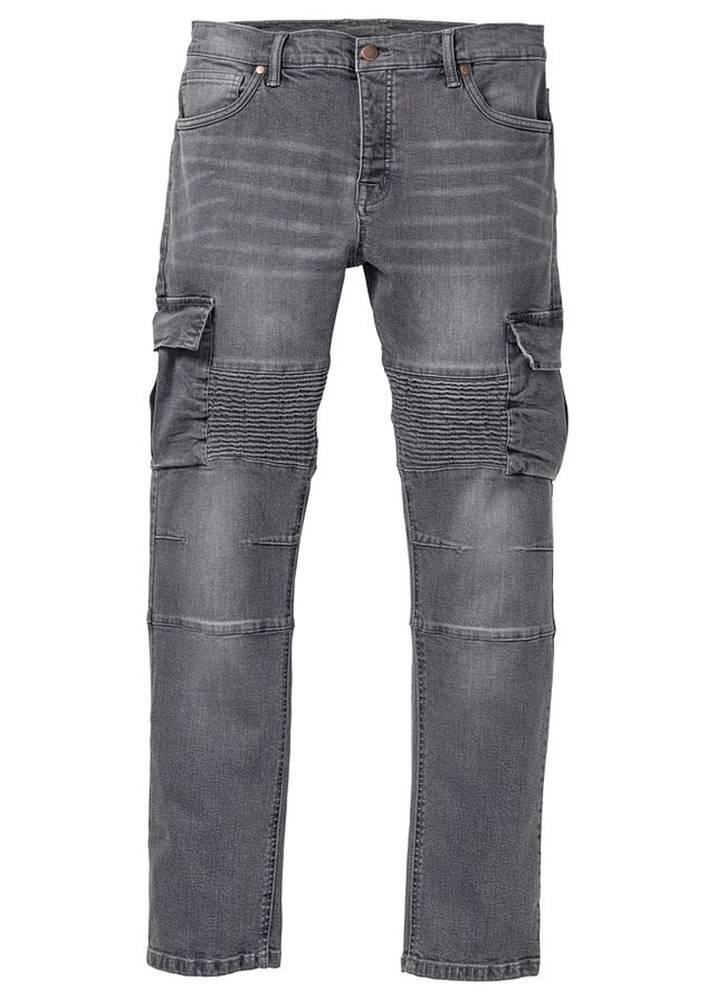 bonprix Strečové džínsy, biker štýl, Slim Fit Straight