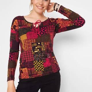 Bavlnené tričko s pačvorkovým vzhľadom