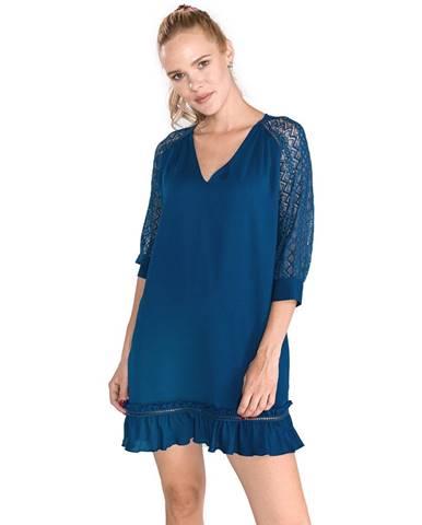 Modrá sukňa Trussardi Jeans