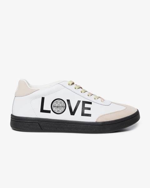 Biele topánky Desigual