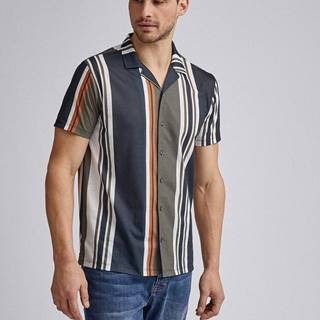 Kaki pruhovaná košeľa Burton Menswear London