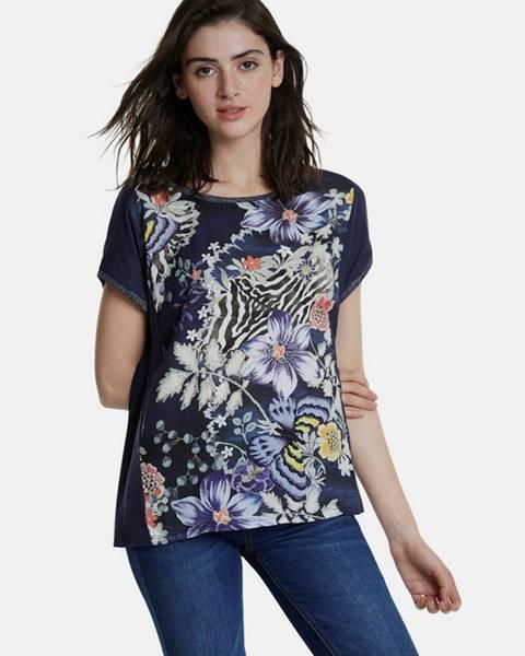 Tmavomodré tričko Desigual