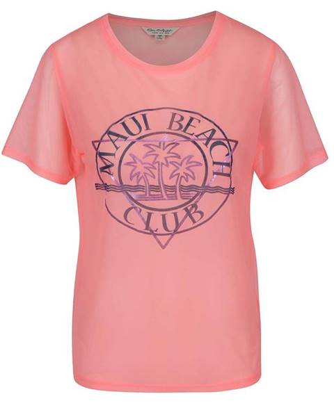 Ružové tričko Miss Selfridge