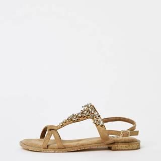 Svetlohnedé dámske sandále v semišovej úprave Xti
