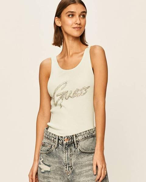 Tyrkysové tričko Guess Jeans