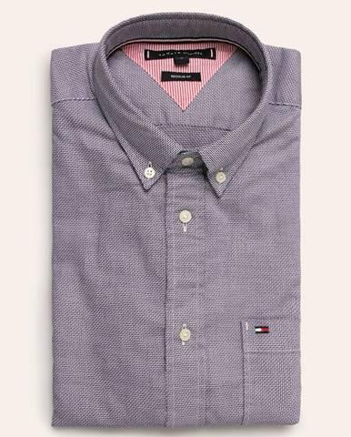 Fialová košeľa Tommy Hilfiger