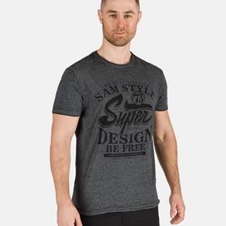 Tmavošedé pánske tričko s potlačou SAM 73