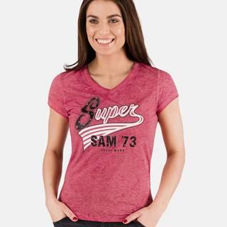 Červené dámske tričko s potlačou SAM 73