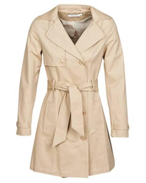 Béžový kabát Naf Naf